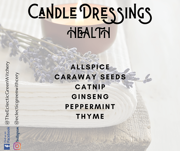 Candle Dressings - Health