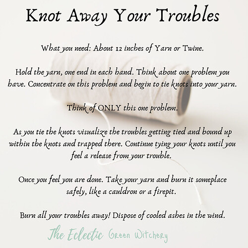 Knot Away Your Troubles