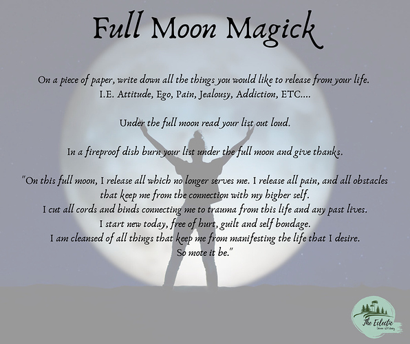 FullMoon Magick-  WitchyWays