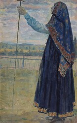 Woman-with-a-Staff-Mikhail-Vasilevich-Nesterov-Oil-Painting