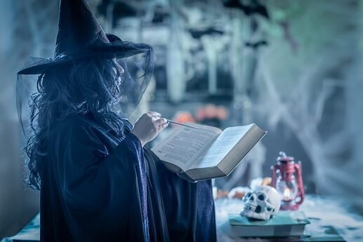 Witch-With-Magic-Book