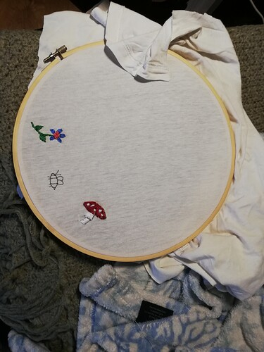 Embroidery attempts