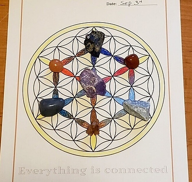 Flower of Life crystal grid
