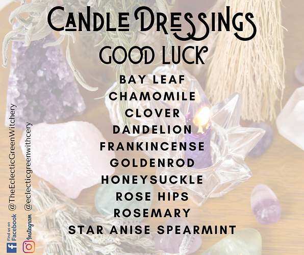 Candle Dressings -good luck