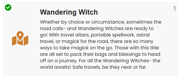 wandering witch