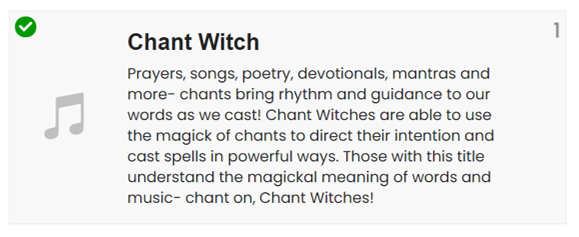 Chant witch