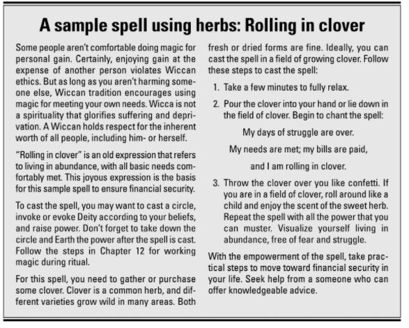Spell with clover