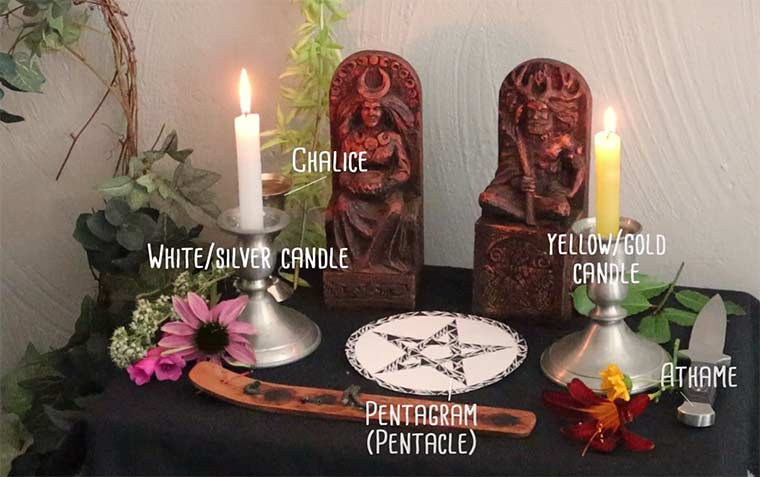 Wiccan-Deities-Altar-Candle-Colors