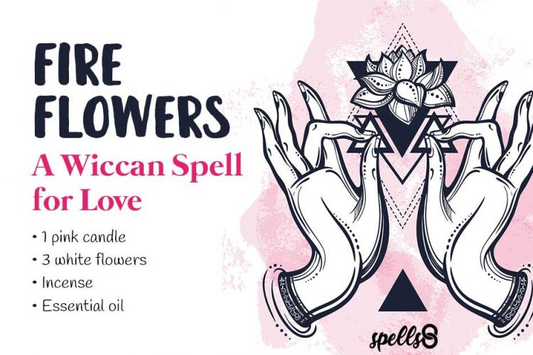 Flowers-Wiccan-Spell-Love-Candle-750x500